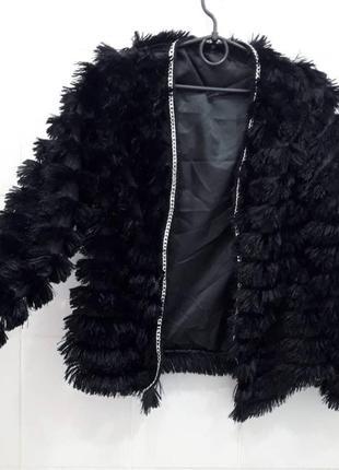 Мягусенькая куртка накидка жакет с цепью