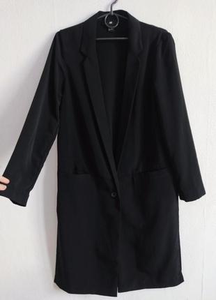 Трендовый удлиненный оверсайз жакет пиджак блейзер с разрезами