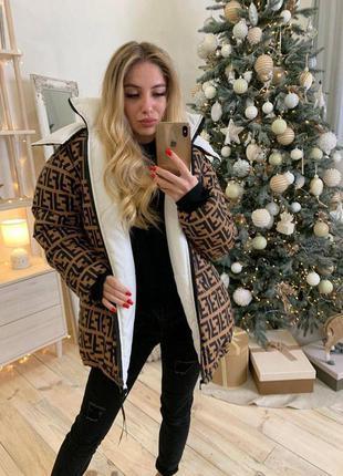 Двухсторонняя трендовая куртка женская
