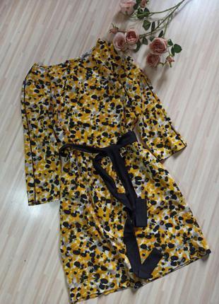 Красивое платье с пояском h&m