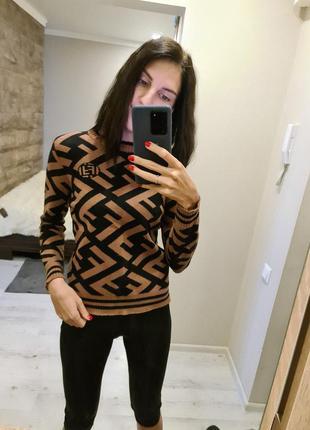 Модный свитер fendi