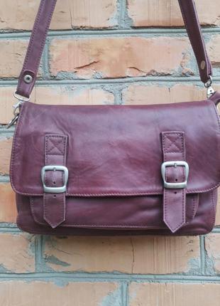 Шикарная кожаная сумка cross-body