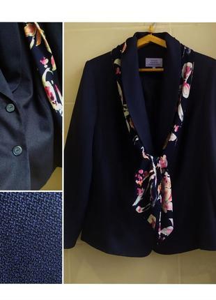 Пиджак жакет с шарфом-галстуком honor millburn большого размера / батал