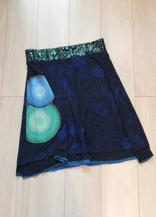 Трикотажная летняя юбка desigual, оригинал