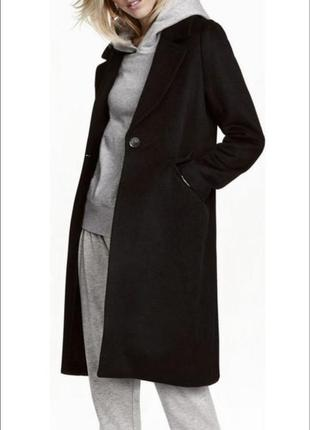 Пальто оверсайз h&m чёрное