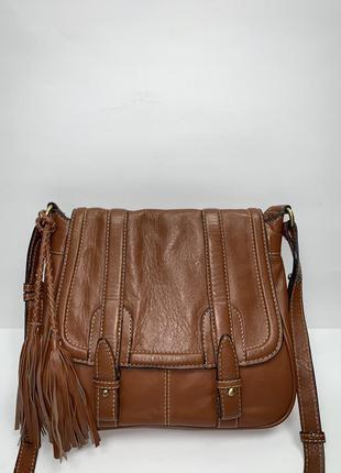 Индия! кожаная фирменная сумочка на/ через плечо clark's.