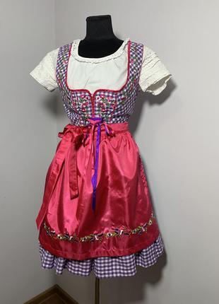 Дирндль fuchs баварский альпийский костюм октоберфест