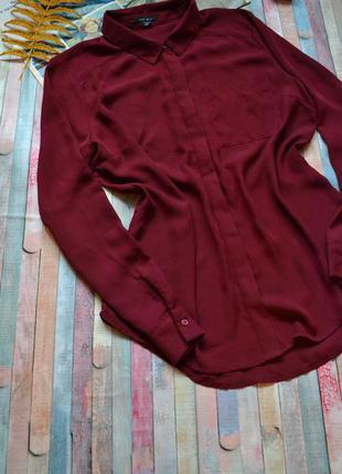 Шикарная шифоновая рубашка amisu большой размер