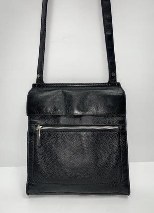 Кожаная фирменная сумочка на/ через плечо next.