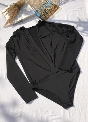 Красивая блуза-боди на запах от zara trf
