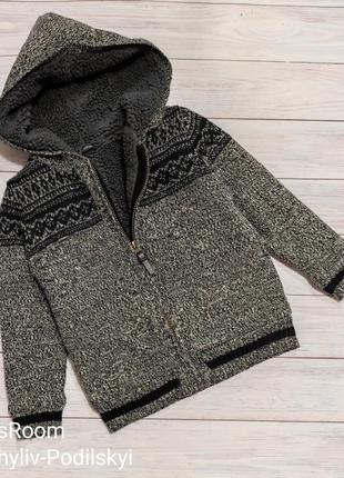 Теплая кофтаина меху,куртка
