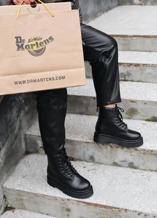 Jadon mono black  premium  женские кожаные ботинки весна осень