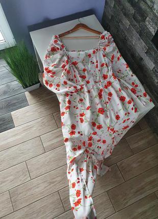 Платье с квадратным вырезом макси длины river island 100% вискоза  в стиле zara