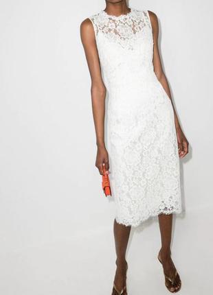 Пудровое ажурное платье, платье миди, нарядное платье, гипюровое платье