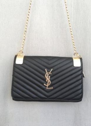 Черная сумочка женская yves saint laurent