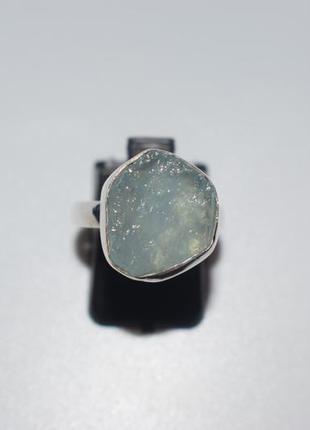 Серебряное кольцо с аквамарином , аквамарин камень аквамарин