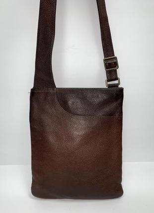 Англия! кожаная фирменная сумка- планшет на/ через плечо radley.