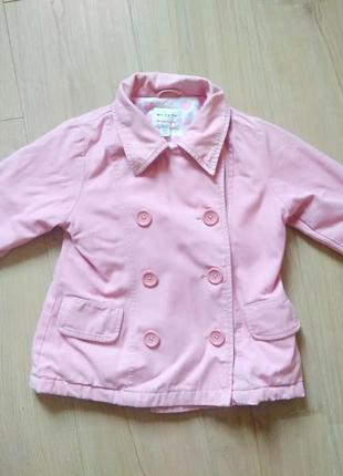 Дитяче текстильне пальто next 3-4 р. /детское пальто