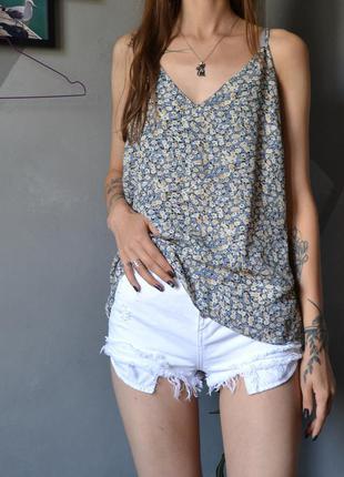Шифоновая блуза топ в цветы primark