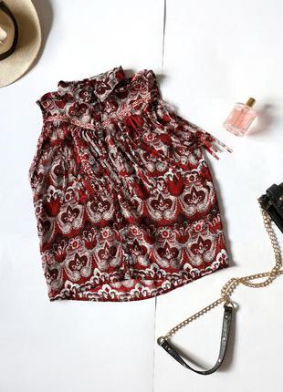 H&m блуза з бахромою та вишивкою в стилі бохо