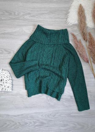 Стильный изумрудный свитер