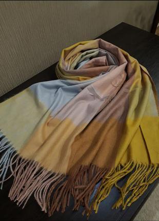 ❤тёплые кашемировые турецкие шарфы пледы клетка