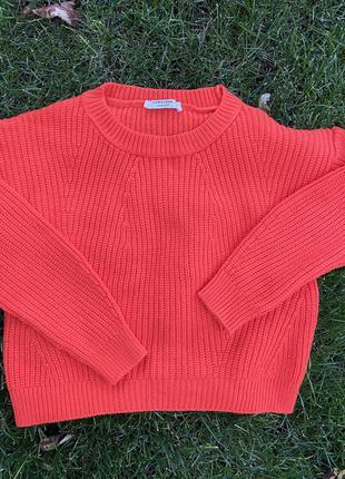 Шикарный вязаный свитер кофта оверсайз
