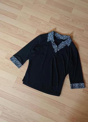 Женская кофта обманка большой размер батал 50 /52 джемпер блуза пуловер