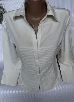 Шикарная базовая рубашка , шёлк 100%