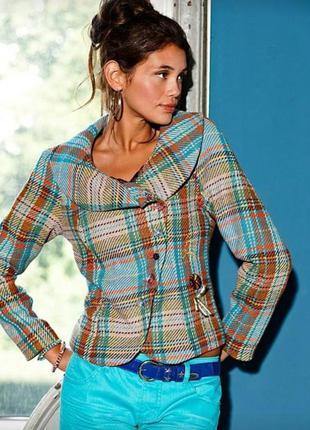 Укороченный теплый пиджак необычного дизайна rainbow от bonprix