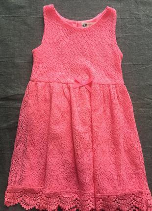 Красивое платья h&m р.116