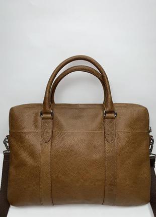Большая кожаная фирменная сумочка для ноутбука на/ через плечо marks & spencer. формат а-4.