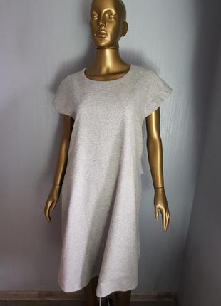 Тёплое шерстяное платье maxmara с карманами