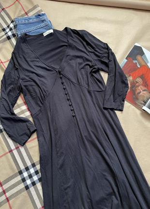 Платье черное миди вискоза