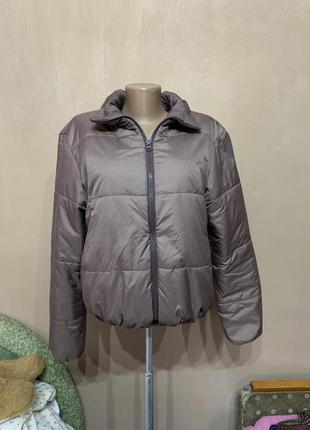 Модная куртка дутик тёплая  размер xs s осень весна трендовая цвета карамель