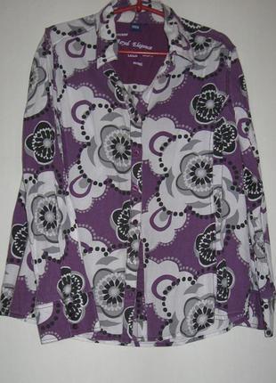 Распродажа рубашек 50-120 грн!!! фиолетовая в цветах