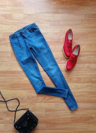 Женские подростковые джинсовые леггинсы скинни pieces - размер 40-42