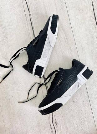Кроссовки puma cali black/white