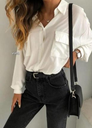 Белая рубашка зара