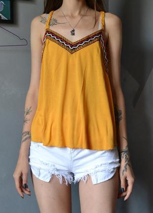 Симпатичная насыщенная блуза топ бохо fb sister