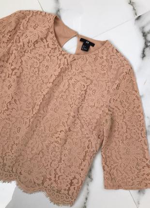 Кружевная блуза h&m 🧡