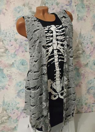 Платье скелета,скелет, карнавальный костюм на хеллоуин