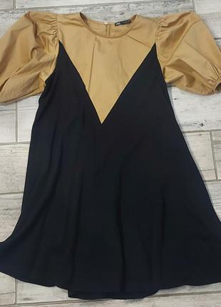 Платье с пишными рукавами zara