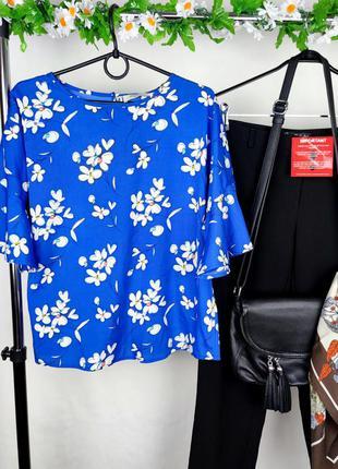 Красивая блуза papaya индия принт цветы этикетка