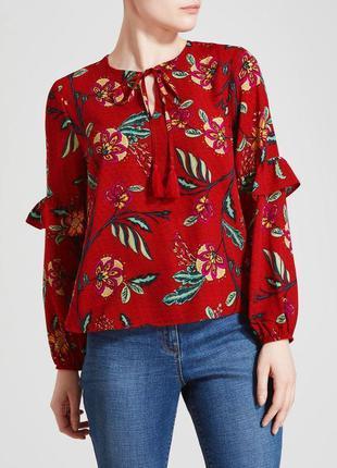 Красивая легкая блуза с рюшами papaya шри ланка этикетка