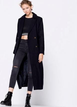 Двубортное пальто в пол pull&bear