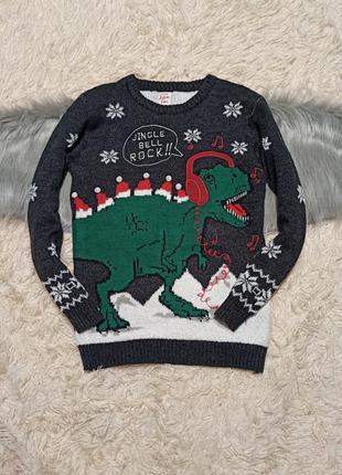 Новогодний свитер реглан новорічний светр