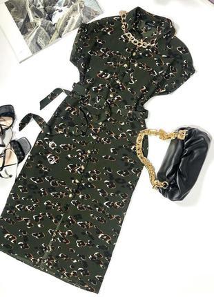 Платье миди в актуальный принт