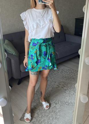 Натуральная юбка с имитацией запаха river island
