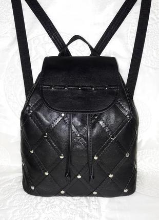Черный кожаный женский рюкзак/рюкзак из натуральной кожи